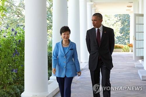 President Park Geun-hye held summit talks with U.S. President Barack Obama in Washington on Friday. (Image : Yonhap)