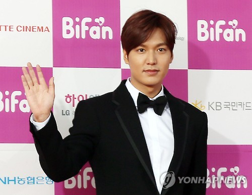 Actor Lee Min-ho is found to be the most beloved Korean star among Arabs, a poll showed Thursday. (Image : Yonhap)