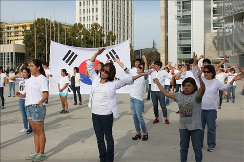 Silicon Valley Flashmobs Promote Dokdo Day