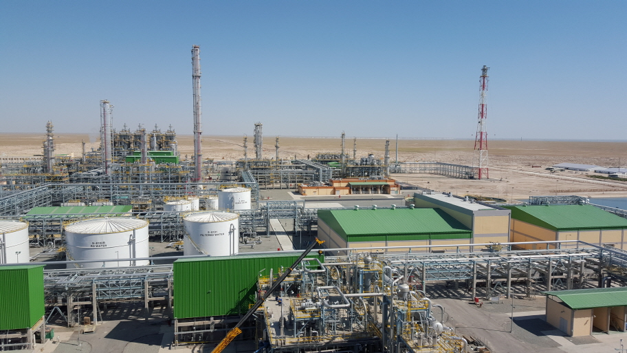 """The joint development project, dubbed """"the Surgil Project,"""" was clinched in 2007 between a Korean consortium led by Lotte Chemical and the state-owned oil and gas company Uzbekneftegaz. (image: Lotte Chemical)"""