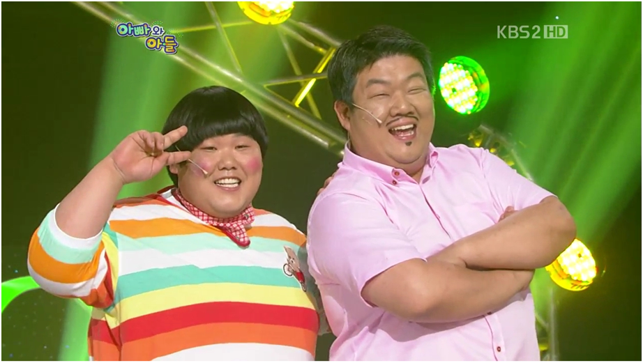 'Father and Son' skit from KBS Gag Concert. The skit is about funny situations that happen between obese father and son. (Image : Gag Concert Capture)