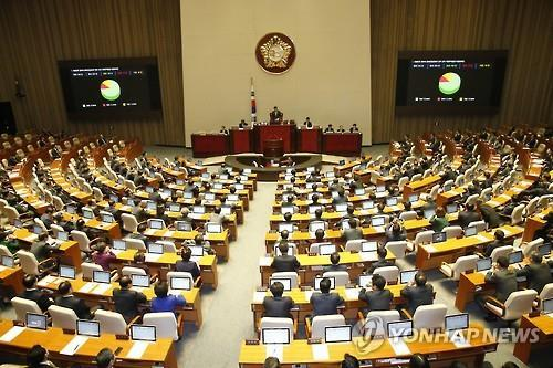 The National Assembly ratifies the free trade agreement with China on Nov. 30, 2015. (Image : Yonhap)