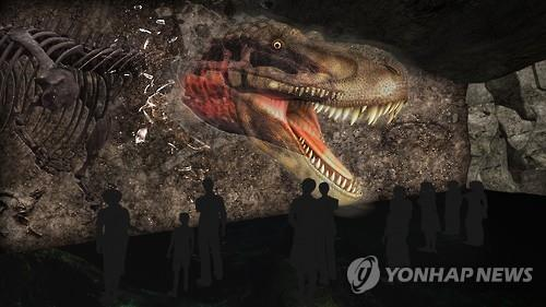 An international dinosaur exposition in southern South Korea is undergoing the finishing touches before its opening next year, organizers said Tuesday. (Image : Yonhap)