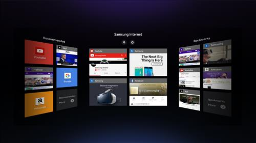 A screenshot of Samsung Internet for Gear VR (Image :  Samsung Electronics)