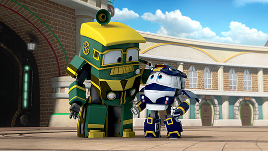 A scene from 'Robot Trains', an animation of CJ E&M. (Image : CJ E&M Homepage)