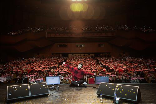 South Korean actor Park Seo-jun has gathered thousands of fans from all over Asia at his first fan meeting, which was held in South Korea, his agency said Monday. (Image : Yonhap)