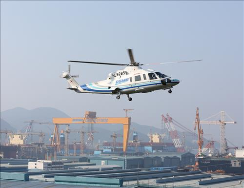Daewoo Shipbuilding & Marine Engineering announced that it has sold all of its helicopters. The company is cleaning up its non-core assets to normalize management. (Image : Yonhap)