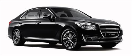 Hyundai Motor Co.'s newly launched EQ900 flagship luxury sedan (Image : Hyundai Motor)