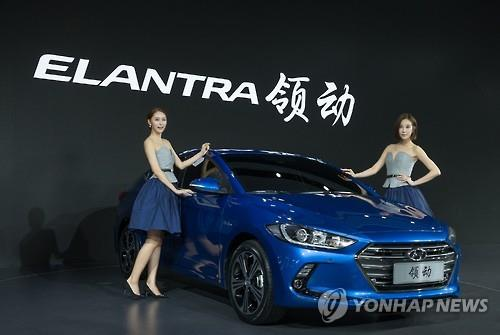 The two leading South Korean carmakers sold a total of 180,159 vehicles in China last month, up 11.5 percent from a year earlier, according to the data. (Image : Yonhap)