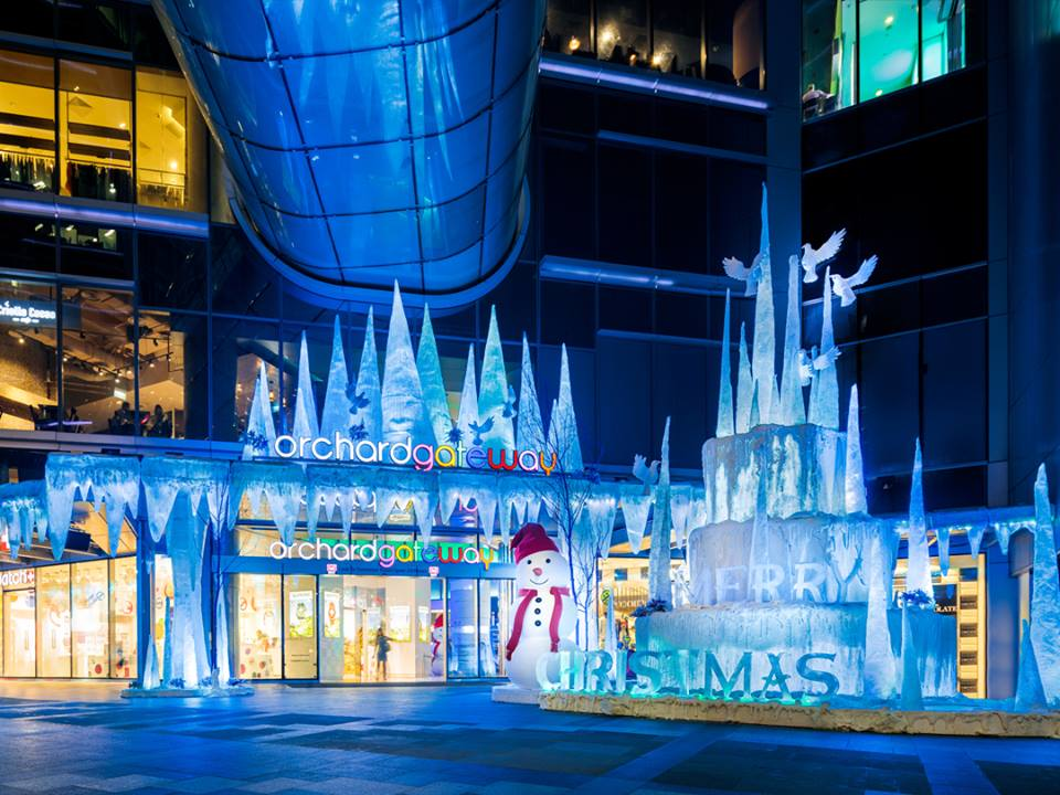 orchardgateway emerged as the favourite among voters for its 'An Icicle Xmas' theme. (image: ORBA)