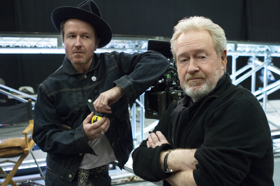 Jake Scott (L) and Ridley Scott(R) (image: LG Electronics)