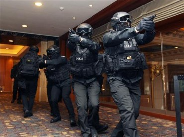 Lotte Hotel Conducts Drills Anti-Terrorism Drill