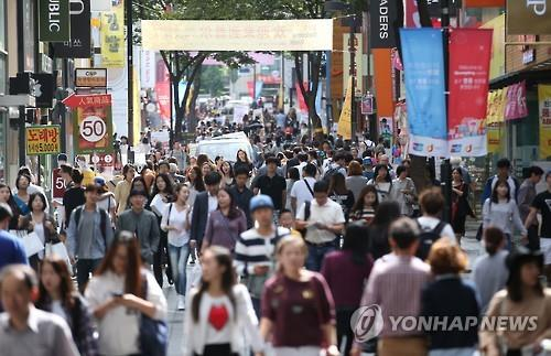 Myeongdong, a downtown shopping mecca, is the most-visited tourist destination in South Korea. (Image : Yonhap)