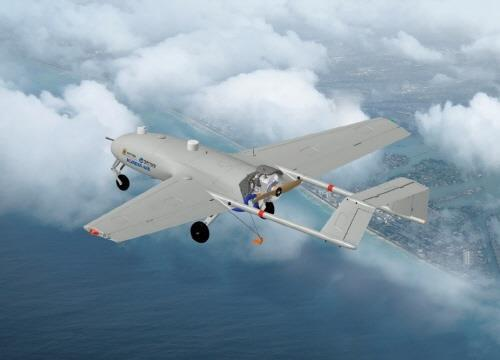 South Korea's No. 1 air carrier Korean Air Lines Co. said Sunday that it has signed a 400 billion-won (US$333.5 million) deal with the military procurement agency to mass-produce reconnaissance unmanned aerial vehicles (UAVs) as part of the government's plan to build up its aerial mission capability. (Image : Yonhap)