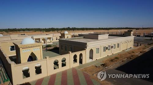 The Shrimp Cultivation Research Center built in the middle of the Sahara Desert in northern Algeria with South Korean technology and capital. (Image : Yonhap)