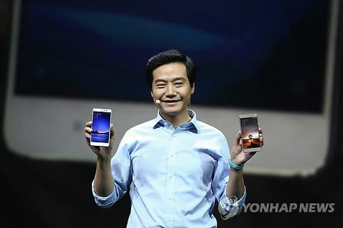 CEO of Xiaomi. Chinese electronics, which have often been thought of as cheap in price, but also in quality, have moved into the spotlight. (Image : Yonhap)
