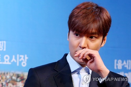 "Actor Lee Min-ho was greeted by 10,000 fans at his first ""talk concert"" in Japan, his management company said Wednesday. (Image : Yonhap)"
