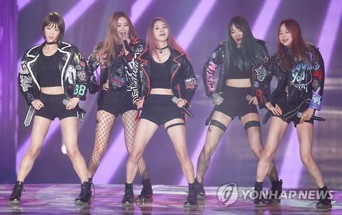 South Korean girl group EXID. (Image : Yonhap)