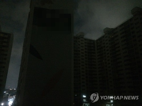 A blackout that happened at an apartment complex in Sindang-dong turned out to have been caused by a stray cat. Residents from over 2,000 households had to shiver in the cold and dark for more than three hours until the electricity was restored. (Image : Yonhap)