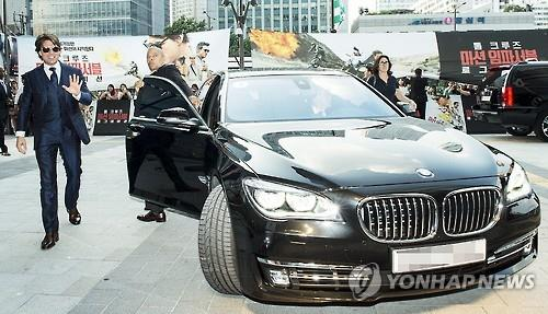 The 'M' shaped radiator grill of BMW vehicles is a famous example of a letter being adopted to car design. (Image : Yonhap)