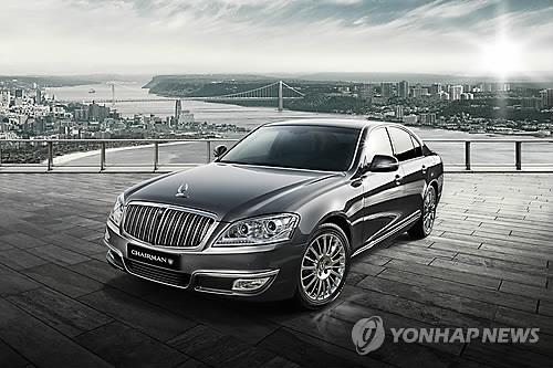 SsangYong Motor announced that it will be launching the 'Kaiser', a special version of its Chairman W luxury sedan. (Image : Yonhap)