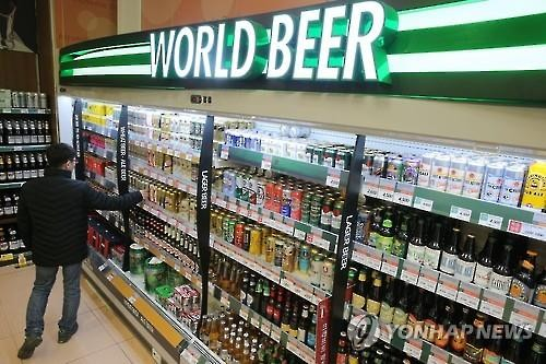Retailers are biting their nails with news spreading quickly that herbicides have been detected in 14 popular German beers. (Image : Yonhap)