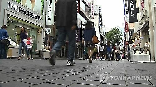 Seoul's popular shopping district of Myeongdong (Image : Yonhap)
