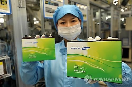 Samsung SDI Co.'s electric vehicle battery (Image : Yonhap)