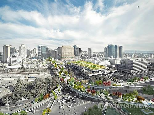 The Seoul Station Overpass, which transported millions of cars over a period of 45 years, will discard its bad name as an unsafe passage and be transformed into a long-lasting road for pedestrians, one that can even survive earthquakes. (Image : Yonhap)