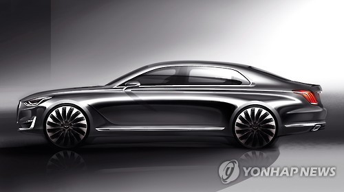 Hyundai Motor Co.'s premium brand Genesis is expected to make its debut in North America in the third quarter, possibly intensifying competition in its high-end vehicle market there, industry sources said Friday. (Image : Yonhap)