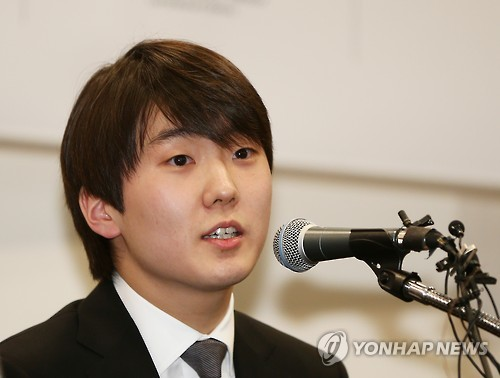 Pianist Cho Seong-jin speaks during a news conference in Seoul on Feb.1, 2016. (Image : Yonhap)