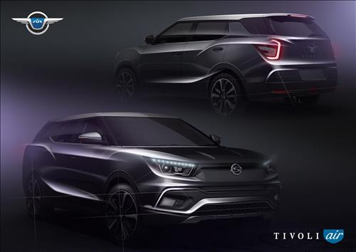 "Ssangyong Motor Co., owned by India's Mahindra & Mahindra, said Monday that the long-body version of the its popular Tivoli sport utility vehicle has been named the ""Tivoli Air."" (Image : Yonhap)"
