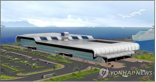 A bird's-eye view of the planned passenger terminal of the port of Pyeongtaek-Dangjin (Image : Ministry of Oceans and Fisheris)