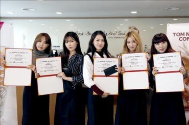 4minute Becomes Honorary Baristas