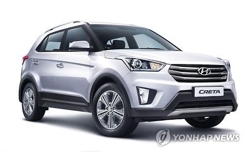 Last month, Hyundai Motor sold 6,589 Cretas in India, which ranked first in the SUV segment, elbowing out the Bolero of India's Mahindra & Mahindra. (Image : Yonhap)