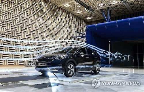 Kia Motors Corp. begins sales of new hybrid SUV, Niro, in South Korea on March 29, 2016. (Image : Yonhap)