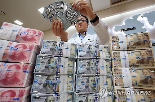 Foreign currency at a Seoul bank (Image : Yonhap)