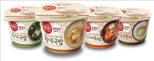 Instant rice, and instant rice accompanied with instant soups and microwavable toppings are popular. (Image : Yonhap)