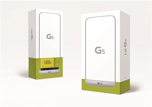 The package of the G5 smartphone (Image : LG Electronics)