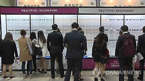South Korea's unemployment rate for young people, aged between 15 and 29, hit a record high of 12.5 percent in February. (Image : Yonhap)