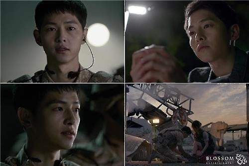 "Scenes from the KBS 2TV series ""Descendants of the Sun"" (Image : Yonhap)"