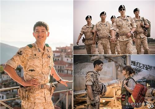 "Major South Korean TV network KBS said Tuesday it has made three special broadcast programs for devoted fans of its sensational drama series ""Descendants of the Sun"" as the show's finale draws near. (Image : Yonhap)"