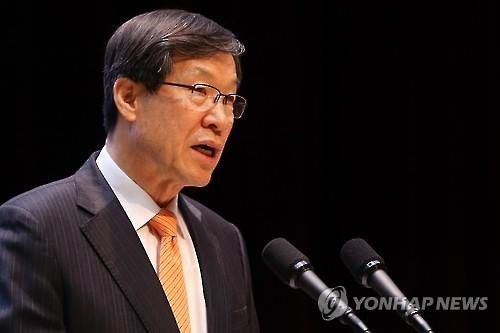 POSCO Chairman Kwon Oh-joon speaks during the company's shareholders' meeting in Seoul on March 11, 2016. (Image : Yonhap)