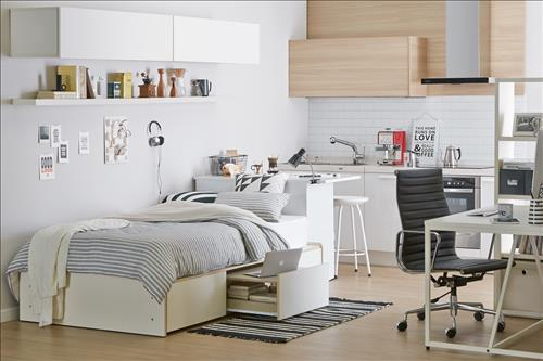 The furniture industry is also broadening its horizons to provide more 'compact' products suitable for the smaller living spaces typical of single-person households. (Image : Hanssem)