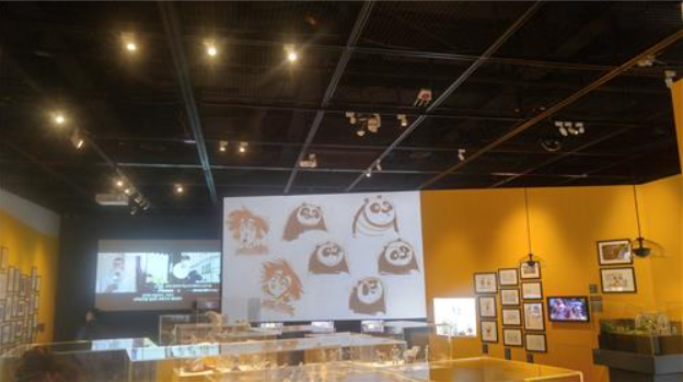 "This photo shows the inside of the exhibition hall at ""DreamWorks Animation: The Exhibition"" at the Seoul Museum of Art in Seoul on April 29, 2016."