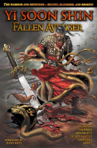'Yi Soon Shin: Fallen Avenger' portrays the infamous Battle of Myeongnyang, in which Admiral Yi defeated 330 Japanese ships with only 12 of his own. The book will also be introduced in October at the New York Comic Con.