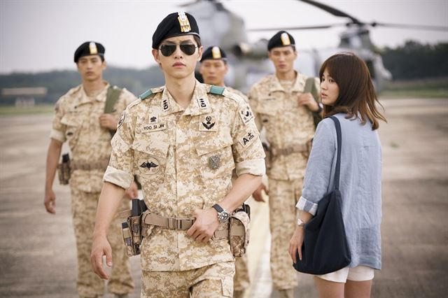 "KBS 2TV's ""Descendants of the Sun,"" was a megahit in Asia in 2016. (image: KBS)"