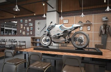 Café Where You Can Enjoy BMW Motorcycles Opens in Korea
