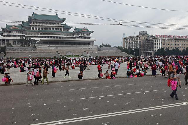 Kim Il-sung Square, Pyongyang. (image: Flickr/ Roman Harak)