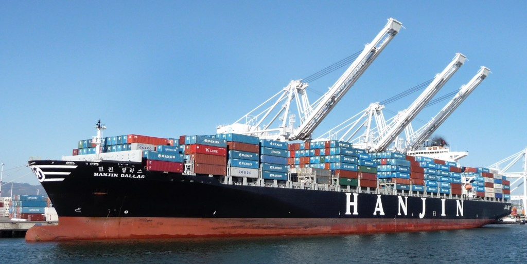 """Joining the shipping alliance is the only critical way for us to deal with the global downturn,"" said an official from Hanjin Shipping. (image: Wikipedia)"
